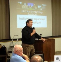 Speaker For The Evening, HSV Public Works Director Jason Temple