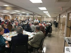 Dinner attendees at the Men's Club Fish Bake