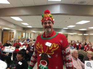 Ugly Sweater Contest winner Ken Vincent